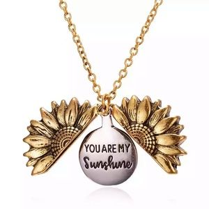 NEW You are My Sunshine Pendant Gold Necklace